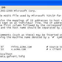 Как должен выглядеть файл hosts?